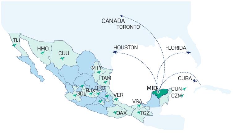 Yucatán limita con el Golfo de México al norte y oeste; limita con Campeche al suroeste, y Quintana Roo al este y suroeste.
