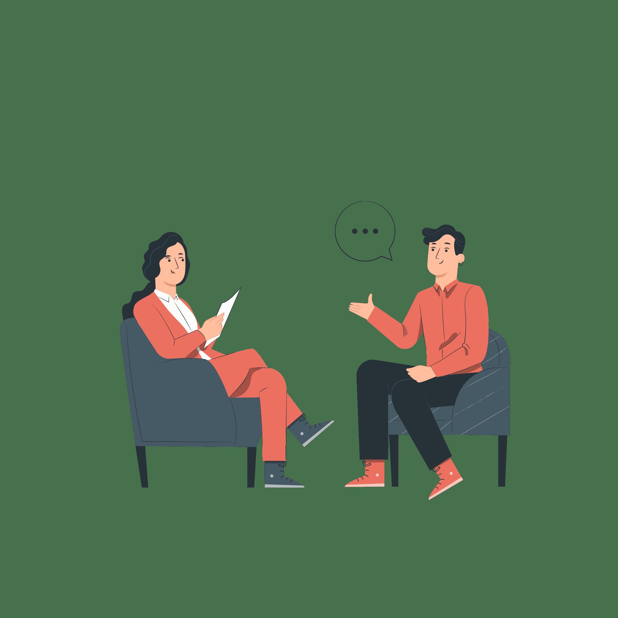 work interview illustration