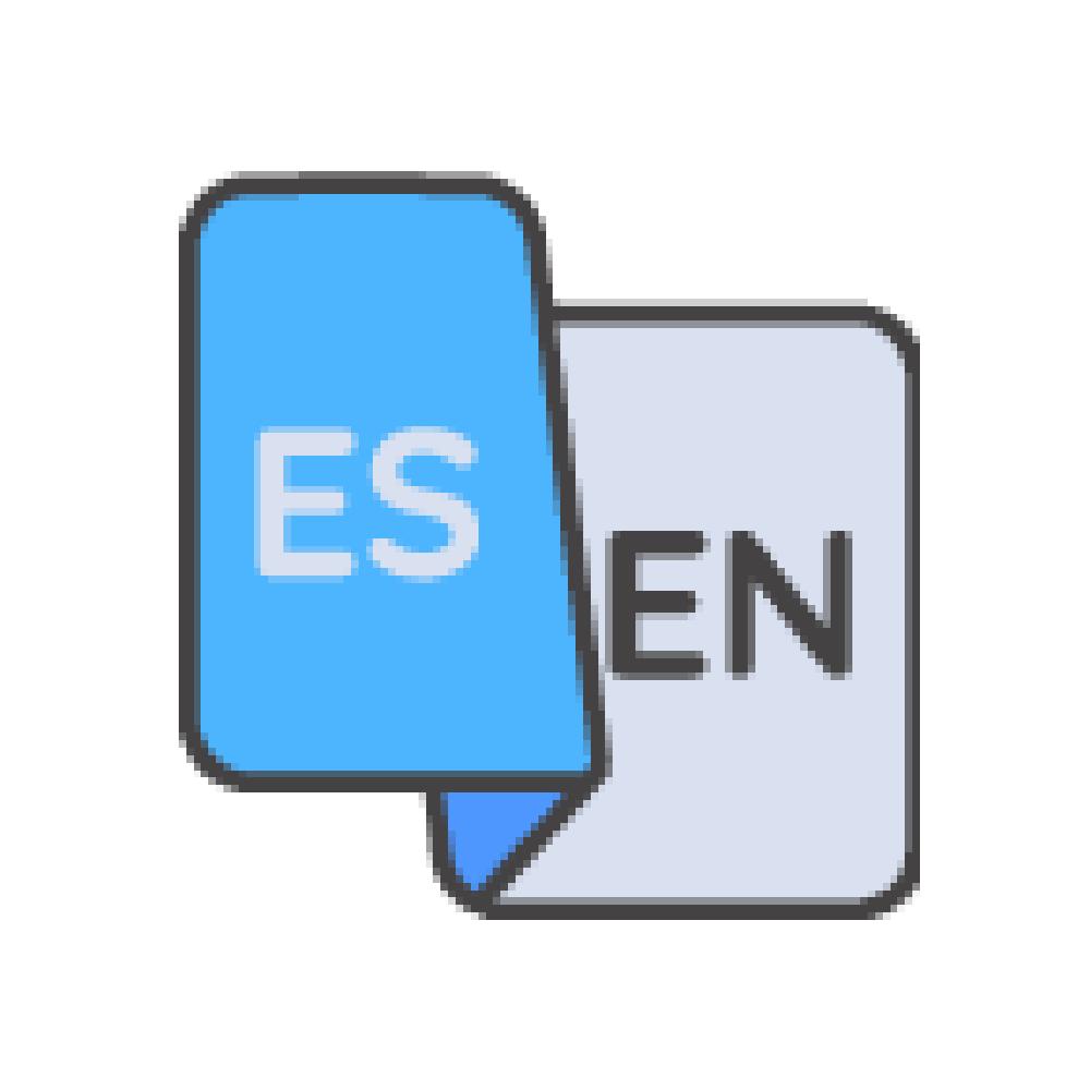 bilingual english spanish illustration icon