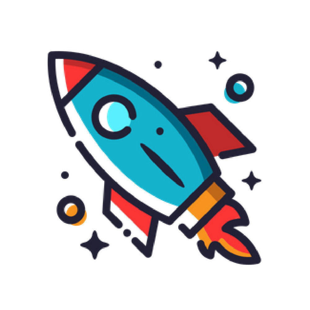 rocket illustration icon