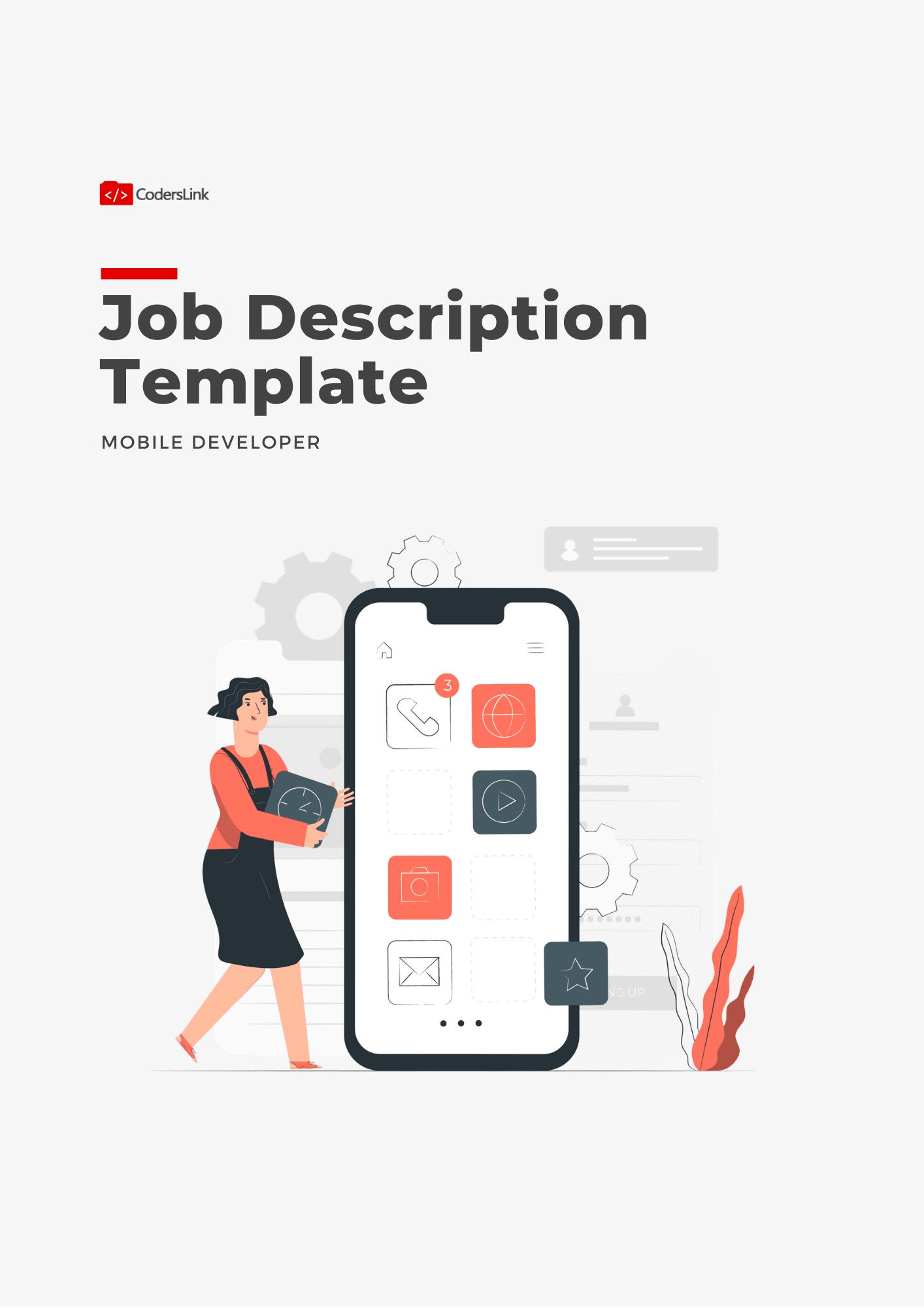 mobile developer job description template
