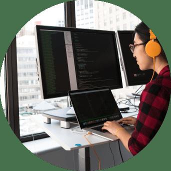 programador en tutorial